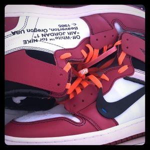 Off white Jordan 1's